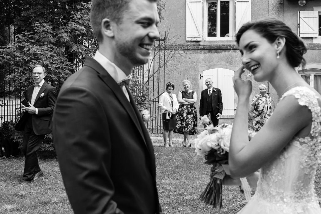 wedding first look in france