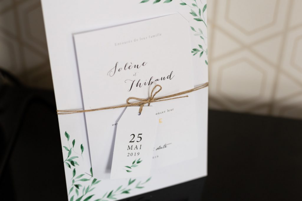 wedding announcement card