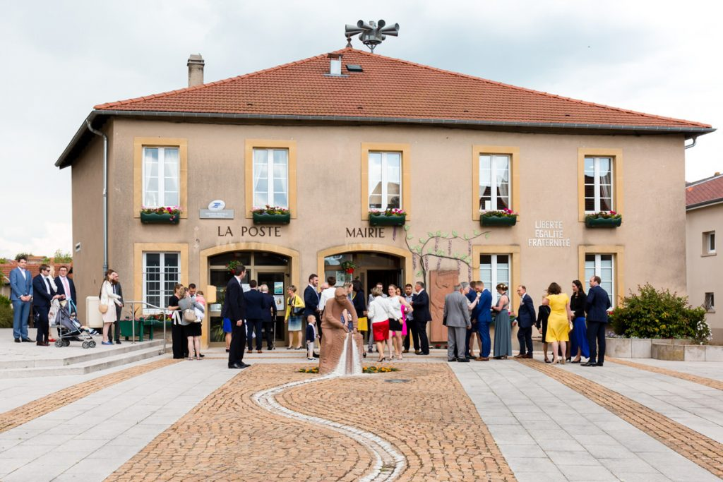 wedding in French village